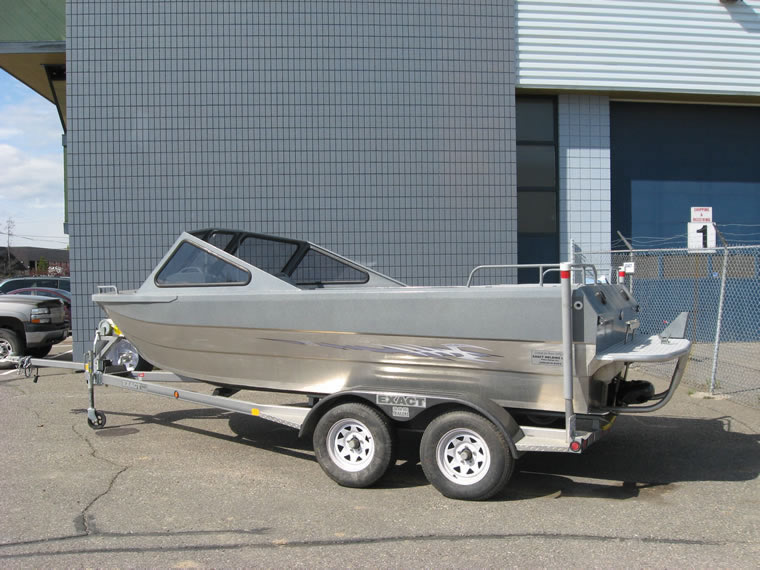 18 foot Expedition EXwelding aluminum jet boat